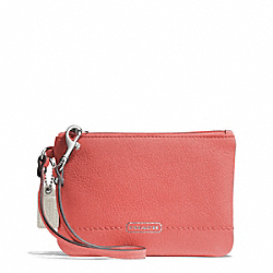 COACH F49475 Park Leather Small Wristlet SILVER/TEAROSE