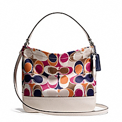 COACH F49484 Park Hand Drawn Scarf Print Mini Duffle Crossbody