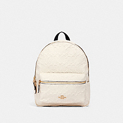 COACH F49498 Medium Charlie Backpack In Signature Leather IM/CHALK