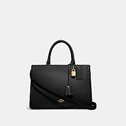 COACH F49500 - ZOE CARRYALL BLACK/IMITATION GOLD