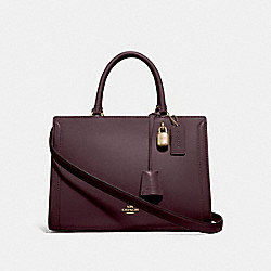 COACH F49500 Zoe Carryall OXBLOOD 1/IMITATION GOLD