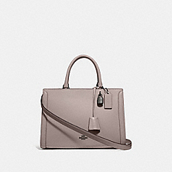 COACH F49500 - ZOE CARRYALL GREY BIRCH/BLACK ANTIQUE NICKEL
