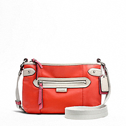 COACH F49516 Daisy Spectator Leather Swingpack SILVER/VERMILLION MULTICOLOR