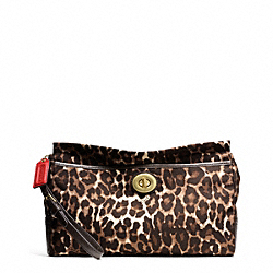 COACH F49521 - PARK OCELOT PRINT LARGE CLUTCH ONE-COLOR