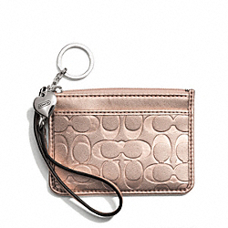 COACH F49535 Embossed Liquid Gloss Id Skinny