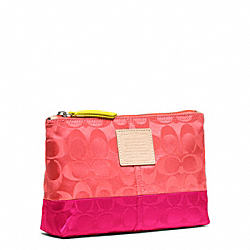 COACH F49545 Legacy Weekend Colorblock Nylon Medium Cosmetic Case