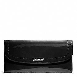 COACH F49565 Park Patent Soft Wallet SILVER/BLACK