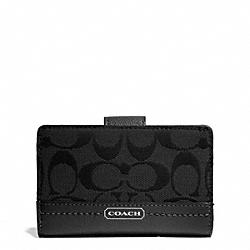 COACH F49582 Park Signature Medium Wallet SILVER/BLACK/BLACK