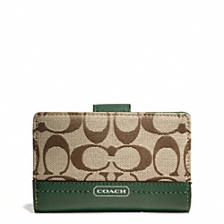 COACH F49582 Park Signature Medium Wallet