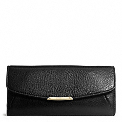 COACH F49595 Madison Slim Envelope Wallet In Leather  LIGHT GOLD/BLACK