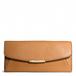 COACH F49595 Madison Slim Envelope Wallet In Leather  LIGHT GOLD/BURNT CAMEL