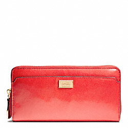 COACH F49598 Madison Accordion Zip Wallet In Patent Leather