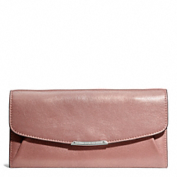 COACH F49604 Madison Slim Envelope Wallet In Metallic Leather