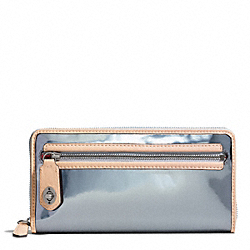 COACH F49622 Poppy Mirror Metallic Accordion Zip