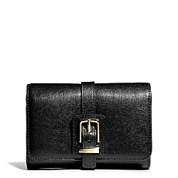 COACH F49669 Buckle Compact Clutch In Saffiano Leather