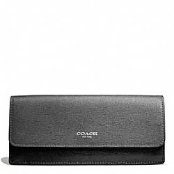 COACH F49670 Saffiano Colorblock New Soft Wallet