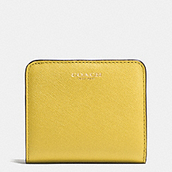 COACH F49671 Saffiano Leather Small Wallet LIGHT GOLD/SAFFRON