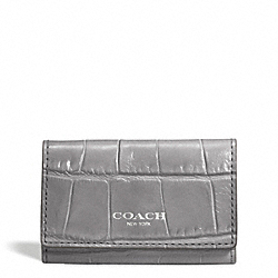 COACH F49678 Embossed Croc 6 Ring Key Case
