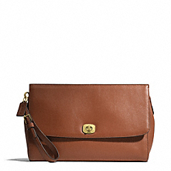 COACH F49693 - LEATHER FLAP CLUTCH ONE-COLOR
