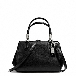 COACH F49720 - MADISON LEATHER MINI SATCHEL SILVER/BLACK