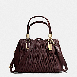 COACH F49723 - MADISON MINI SATCHEL IN GATHERED TWIST LEATHER IMOXB