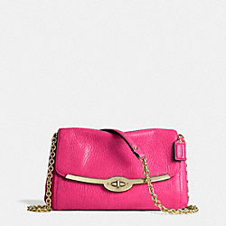 COACH F49738 Madison Chain Crossbody In Leather  LIGHT GOLD/PINK RUBY