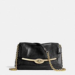 COACH F49738 Madison Chain Crossbody In Leather  LIGHT GOLD/BLACK