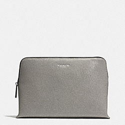 COACH F49748 Saffiano Leather Cosmetic Case  SILVER/CEMENT