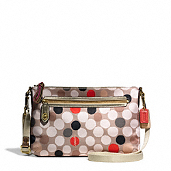 COACH F49765 - POPPY WATERCOLOR DOT EAST/WEST SWINGPACK ONE-COLOR