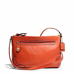 COACH F49770 - POPPY TEXTURED PATENT EAST/WEST SWINGPACK ONE-COLOR