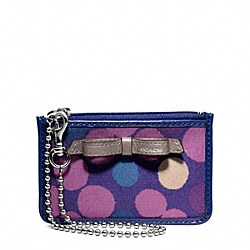 COACH F49811 Poppy Watercolor Dot Id Skinny