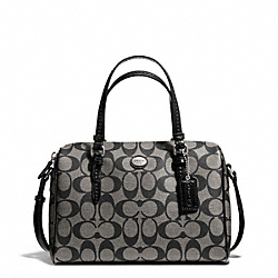 COACH F49862 Peyton Signature Bennett Mini Satchel SILVER/BLACK/WHITE/BLACK