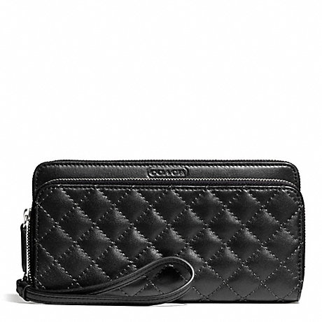 COACH f49870 PARK QUILTED LEATHER DOUBLE ACCORDION ZIP