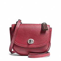 COACH F49872 - PARK LEATHER MINI CROSSBODY SILVER/BLACK CHERRY
