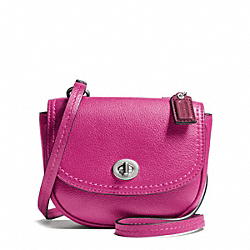 COACH F49872 - PARK LEATHER MINI CROSSBODY SILVER/BRIGHT MAGENTA