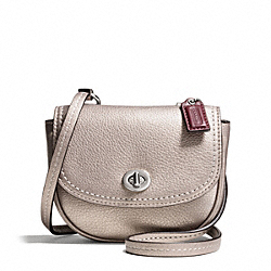 COACH F49872 - PARK LEATHER MINI CROSSBODY SILVER/PEWTER