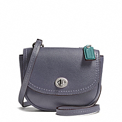 COACH F49872 Park Leather Mini Crossbody SILVER/SLATE