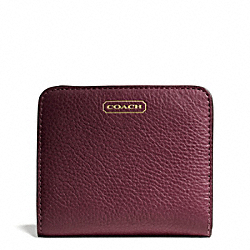 COACH F49879 Park Leather Small Wallet BRASS/BURGUNDY