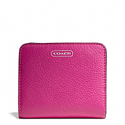 COACH F49879 Park Leather Small Wallet SILVER/BRIGHT MAGENTA