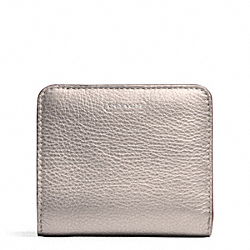COACH F49879 Park Leather Small Wallet SILVER/PEWTER