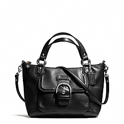 COACH F49882 - CAMPBELL LEATHER MINI TOTE CROSSBODY SILVER/BLACK