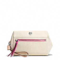 COACH F49895 - RESORT CANVAS BOXY CLUTCH ONE-COLOR