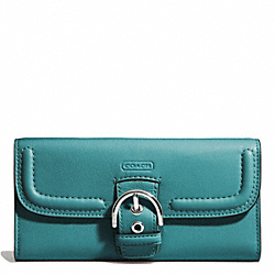 COACH F49897 Campbell Leather Buckle Slim Envelope SILVER/MINERAL
