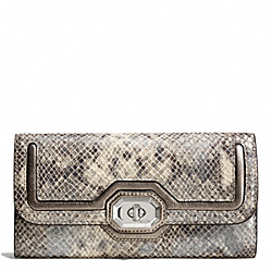 COACH F49901 Campbell Exotic Leather Turnlock Slim Envelope
