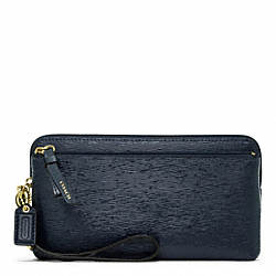 COACH F49935 Poppy Textured Patent Double Zip Wallet