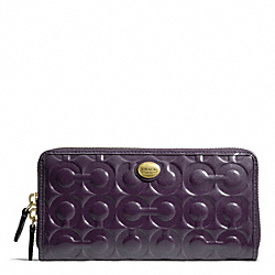 COACH F49962 Peyton Op Art Embossed Patent Accordion Zip