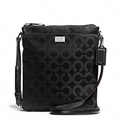 COACH F49981 - MADISON SWINGPACK IN OP ART SATEEN FABRIC ONE-COLOR