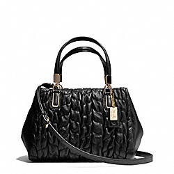 COACH F49989 - MADISON GATHERED LEATHER MINI SATCHEL ONE-COLOR
