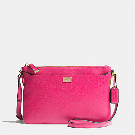 COACH f49992 MADISON SWINGPACK IN LEATHER  LIGHT GOLD/PINK RUBY