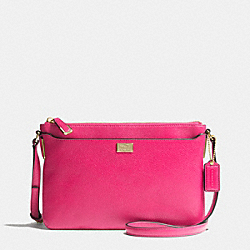 MADISON SWINGPACK IN LEATHER - f49992 -  LIGHT GOLD/PINK RUBY